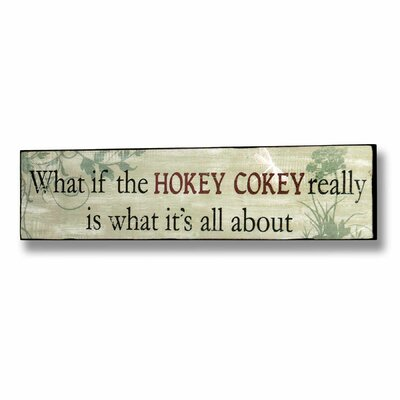 Hill Interiors Hokey Cokey Typography Plaque in Green