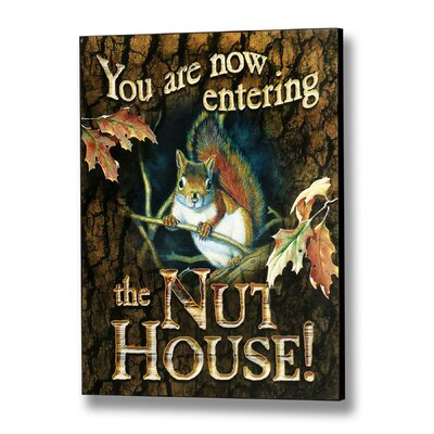 Hill Interiors Nut House Vintage Advertisement Plaque in Brown
