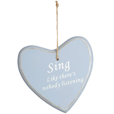 Hill Interiors Hanging 'Sing' Heart Wall Decor