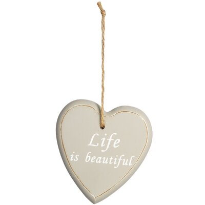 Hill Interiors Hanging 'Life' Heart Wall Decor