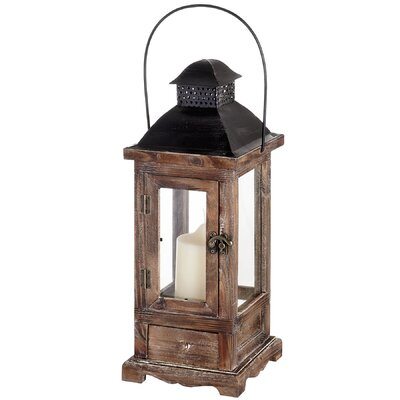 Hill Interiors Antique Wooden Lantern