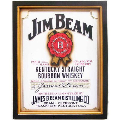 Hill Interiors Jim Beam Framed Typography
