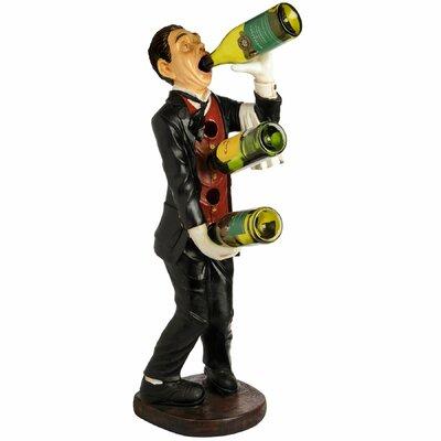 Hill Interiors Drinking Butler Wine Bottle Holder