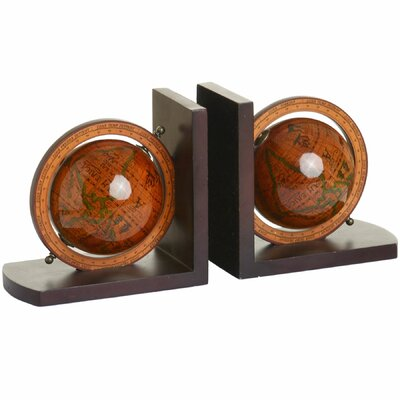 Hill Interiors Pair Globe Bookend