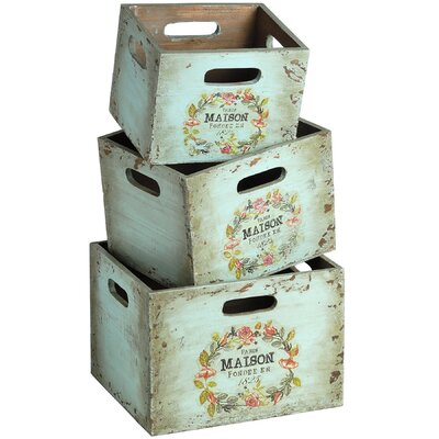 Hill Interiors Wooden Crate