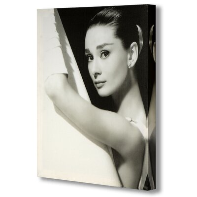 Hill Interiors Audrey Hepburn in Shower Photographic Print on Canvas