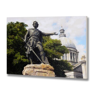 Hill Interiors William Wallace Statue Aberdeen Photographic Print Wrapped on Canvas
