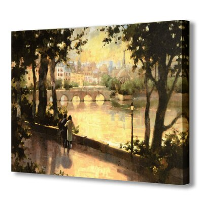 Hill Interiors Bridge Over The River Art Print Wrapped on Canvas