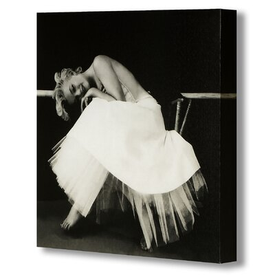 Hill Interiors Marilyn Monroe on Chair Photographic Print Wrapped on Canvas