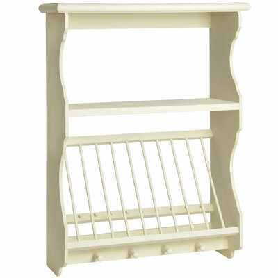 Hill Interiors Country Kitchen Wall Unit with Plate Rack