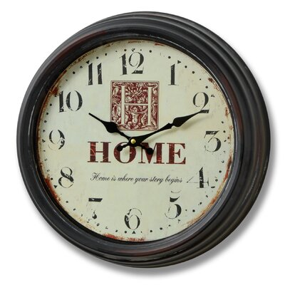 Hill Interiors 39cm Home is Where Your Story Begins Wall Clock