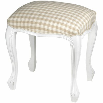 Hill Interiors White Room Upholstered Dressing Table Stool