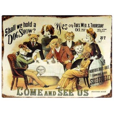 Hill Interiors Dog Show Vintage Advertisement Plaque