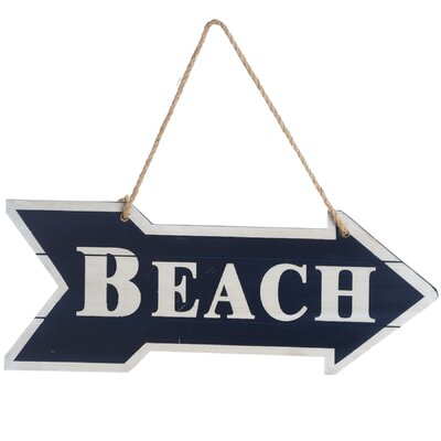 Hill Interiors This Way to the Beach Typography Plaque