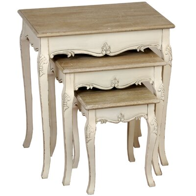 Hill Interiors Country 3 Piece Nest of Tables