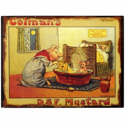 Hill Interiors Colman's D S F Mustard Vintage Advertisement Plaque