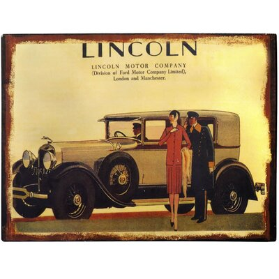 Hill Interiors Lincoln Vintage Advertisement Plaque in Brown