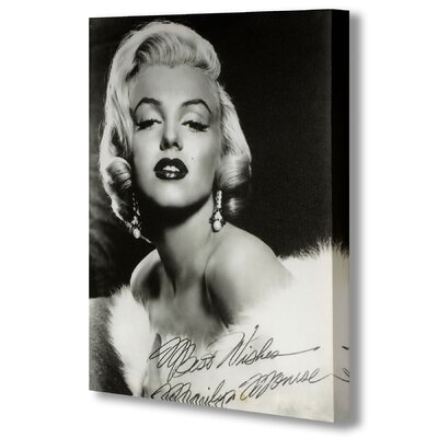 Hill Interiors Marylin Monroe with Signature Photographic Print Wrapped on Canvas