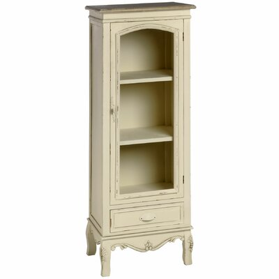 Hill Interiors Country Glazed Tallboy 1 Door 1 Drawer Cabinet