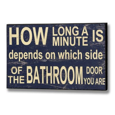Hill Interiors How Long a Minute Is Typography Plaque