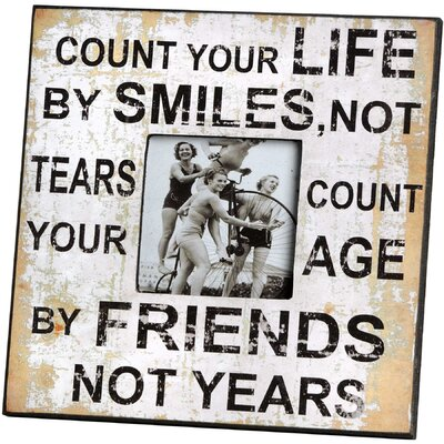 Hill Interiors Count Your Life Picture Frame