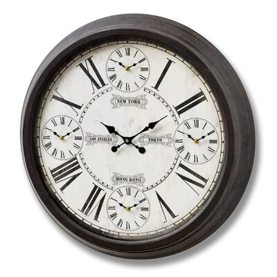 Hill Interiors Oversized 70cm World Times Wall Clock
