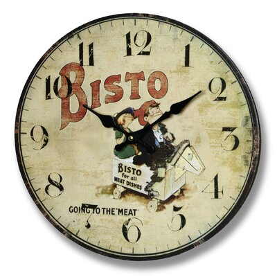 Hill Interiors 34cm Bisto Going to the Meat Wall Clock