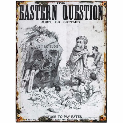 Hill Interiors Eastern Question Graphic Art Plaque in Grey