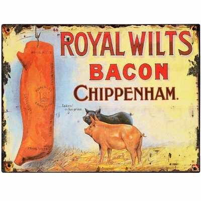 Hill Interiors Royal Wilts Bacon Vintage Advertisement Plaque