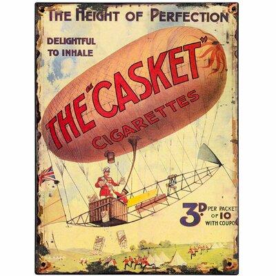 Hill Interiors The Casket Cigarettes Vintage Advertisement Plaque