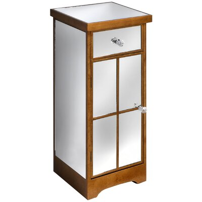 Hill Interiors Venetian Mirrored Lamp Table with Drawer and Cupboard