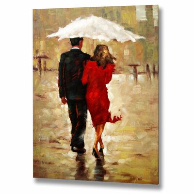 Hill Interiors Couple in the Rain Original Painting