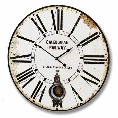 Hill Interiors LED 58cm Caledonian Railway Wall Clock