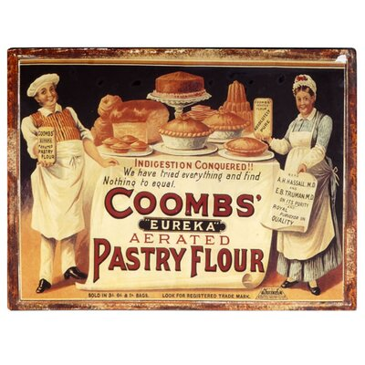 Hill Interiors Coombs' Flour Poster Vintage Advertisement Plaque