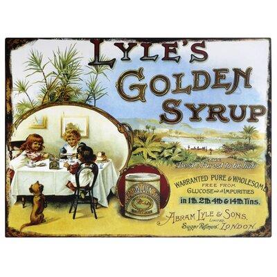 Hill Interiors Lyle's Golden Syrup Vintage Advertisement Plaque
