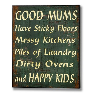 Hill Interiors Good Mums Typography Plaque in Green