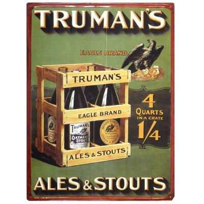 Hill Interiors Trumans Ales and Stouts Vintage Advertisement Plaque
