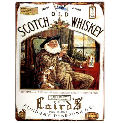 Hill Interiors Scotch Whiskey Vintage Advertisement Plaque