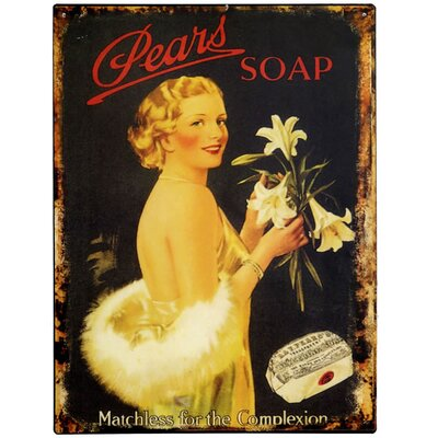 Hill Interiors Pears Soap Vintage Advertisement Plaque
