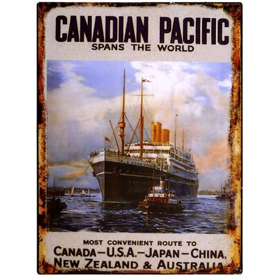 Hill Interiors Canadian Pacific Vintage Advertisement Plaque