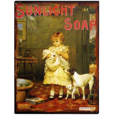 Hill Interiors Sunlight Soap Vintage Advertisement Plaque