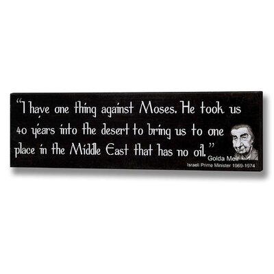 Hill Interiors Moses Typography Plaque in Black