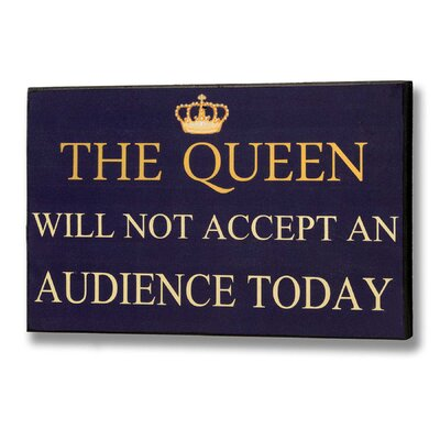 Hill Interiors The Queen Typography Plaque in Blue