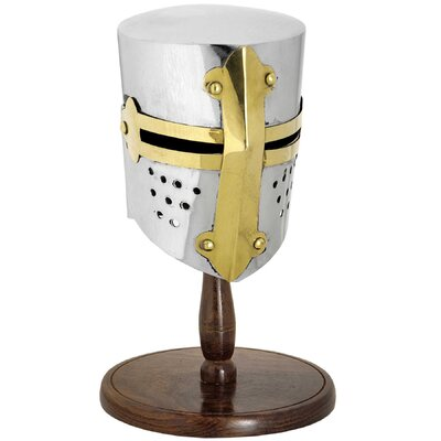 Hill Interiors Decorative Mini Tournament Helmet on Stand