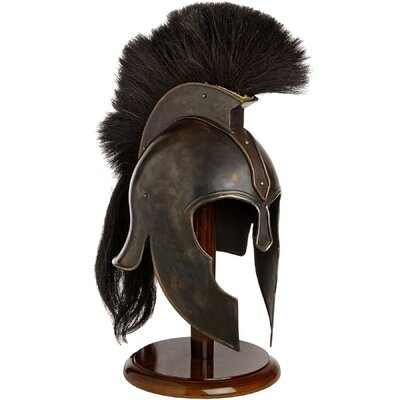 Hill Interiors Decorative Troy Helmet on Stand