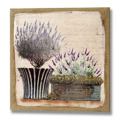 Hill Interiors Lavender in Planters Art Print on Canvas