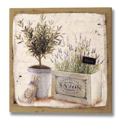 Hill Interiors Lavender and Tree Art Print
