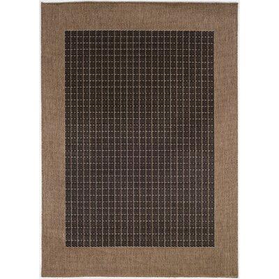 Couristan Recife Checkered Field Black Cocoa Indoor/Outdoor Area Rug