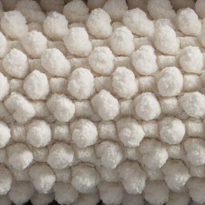 """Pebbled Chenille Bath Rug Color: Alpine White, Size: 30"""" W x 72"""" L"""