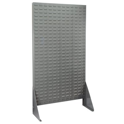 "Louvered Rivet Floor Rack Size: 66.38"" H x 13.5"" W x 36.18"" D"